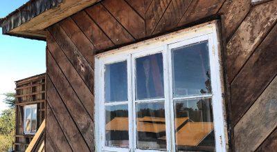 Casa de madera antigua